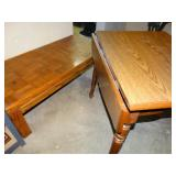 """Coffee table 22.5"""" x 48""""w x 16""""h and one side"""