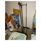 Adjustable clothes rack, laundry hamper with