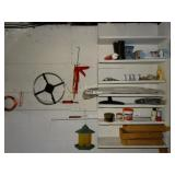 Contents of wall and shelves, closet maid