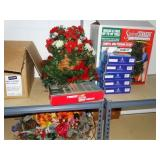 Christmas lot, centerpieces, swivel tree stand,
