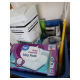 Plastic bin contents, straws, foil, plastic wrap,