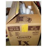 Box of Styrofoam cups