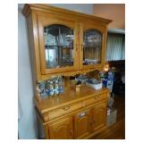 Winners Only, oak china cabinet, no contents, 2