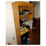 "Bookcase, no contents, 12""d x 28""w x 70""h"