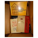 Box of assorted books, do it yourself books, etc