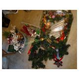 Christmas decorations:  wreath, door hangers,
