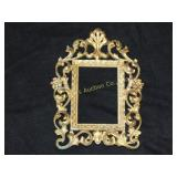 "Antique cast picture frame approx 10""h"