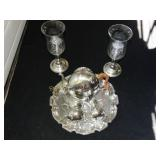 Williamsburg Tea set:  tray, creamer, sugar,