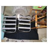 2-folding luggage racks & tray holder