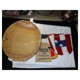 Woven basket, Peanut bag, patriotic tote, china