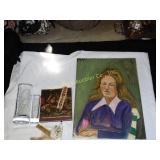 Kate Spade vases, Williamsburg book & painting