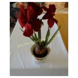 Lenox Holiday planter/vase w/silk
