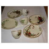 Lenox assorted snack 4 plates 3 cups