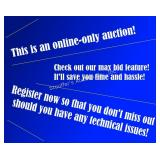 Auctioneer's Note:  ONLINE ONLY - don't miss the