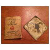 Old Tin Type Photo and Mine Workers Handbook
