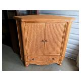 Rattan Corner Cabinet (improved pictures)