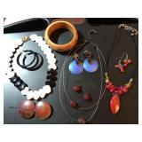 Three Necklace and Earring Sets and Extras