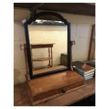 Dresser Top Mirror and Jewelry Box / Valet