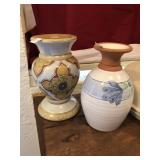 Pottery Vase and CAndle Holder