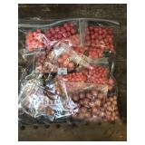 Various shades of pink beads