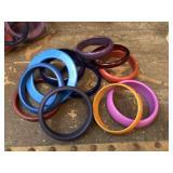 Melamime, Bakelite and Plastice Bracelets