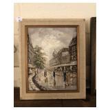 Framed Print of Street Scene