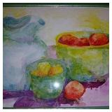 Water Pitcher and Fruit Bowl