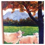White Cows under Tree