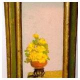 Yellow Flower Pot on a Pillar