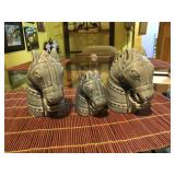 Set of 3 Horse Heads