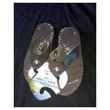 Aqua of flip-flops size 8
