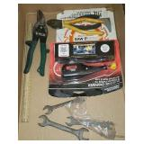 TOOLS: ELECTRIC ENGRAVER, SIDE CUTS, TIN SNIPS