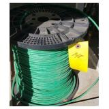 LARGE SPOOL OF COPPER COVERED WIRE