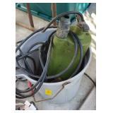 GREEN SUMP PUMP & ASSTD C CLAMPS