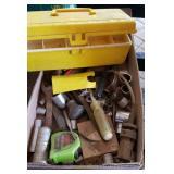 ASSTD TOOLS: SOCKETS, PLASTIC TOOL BOX, ETC