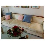 3 CUSHION SOFA WOOD BACK