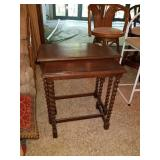 PAIR OF WOOD NESTING TABLES