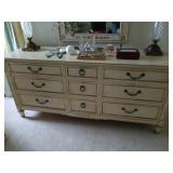 KINDLE DRESSER W/ FRAME ORNATE MIRROR