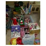 LARGE LOT OF ASSTD CHRISTMAS & HOLIDAY DECOR