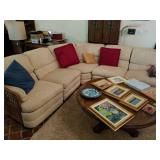 RATTAN 6 PCS SECTIONAL W/ PILLOWS