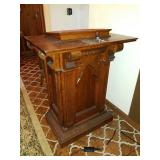 ANTIQUE OAK PULPIT
