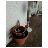 FLOWER POTS, SOLAR LIGHTS, FANS