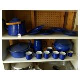 15 PCS OF BLUE GRANITEWARE