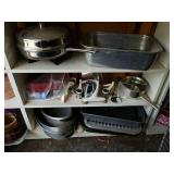 VARIOUS BAKEWARE, COOKWARE, FOOD CHOPPERS