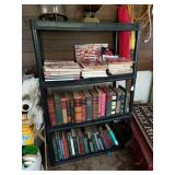 PLASTIC 4 SHELF W/ ASSTD MEDICAL BOOKS