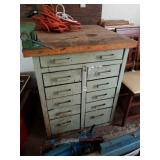 INDUSTRIAL 11 DRAWER CABINET W/ CONTENTS