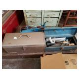 2 TOOL BOXES W/ CONTENTS & TOOL TRAY