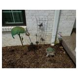 SOLAR GARDEN LIGHTS, CEMENT TURTLE, ETC