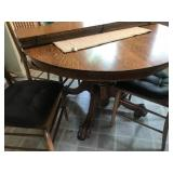 Oak Claw Foot Kitchen Table