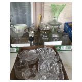 Green Vase-Crystal Glass